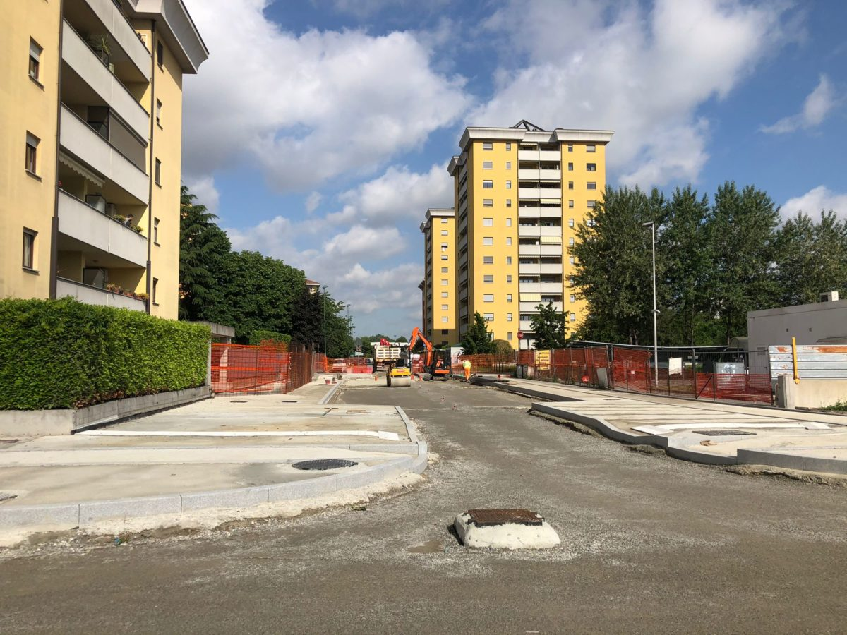Viale Gramsci, avanzano lavori per riapertura: a fine mese aprirà tratto verso via Boccaccio
