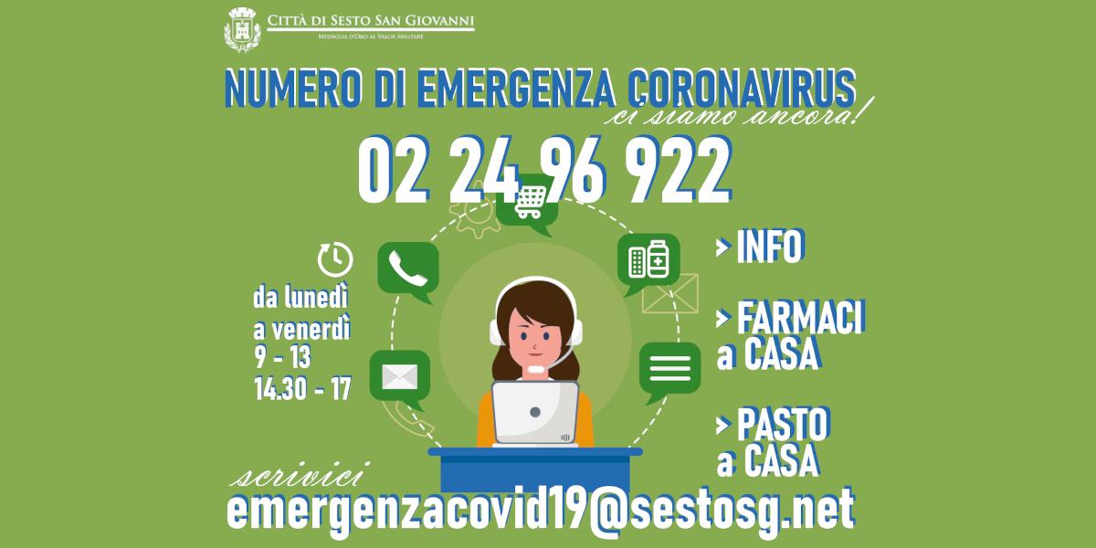Covid, da lunedì attivo il numero comunale di emergenza 022496922