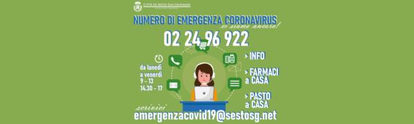 Numero per l'emergenza Coronavirus