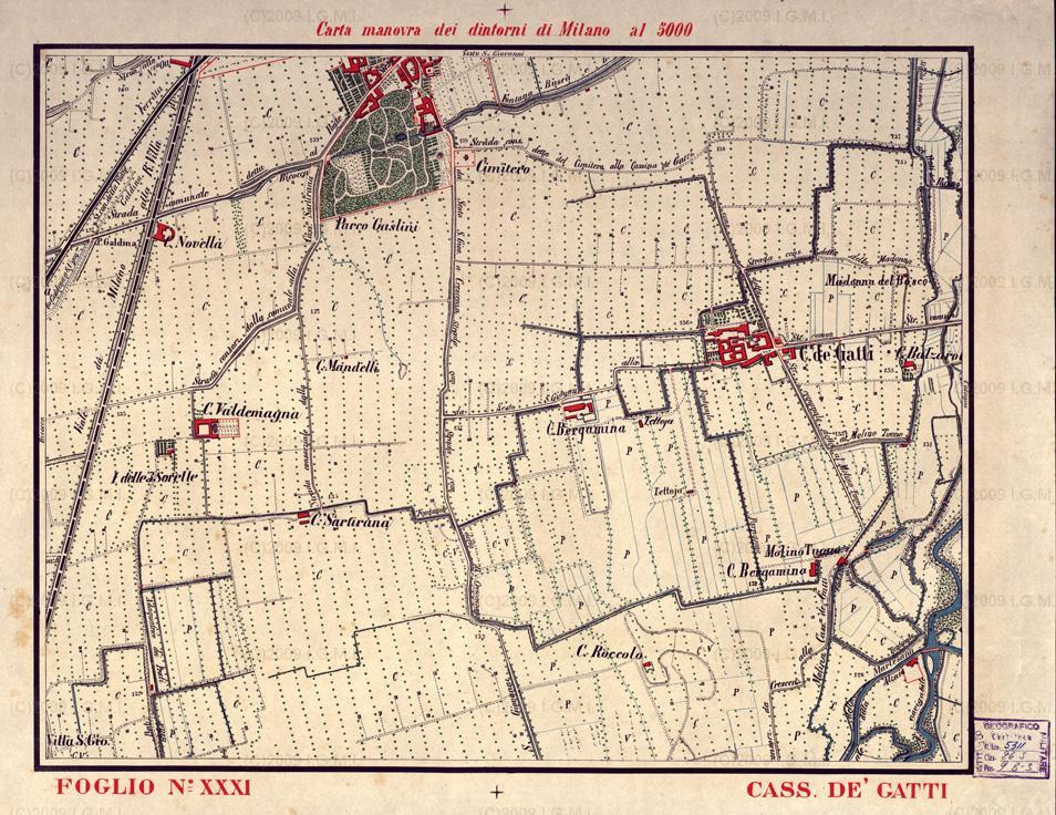 vecchia mappa cascina gatti