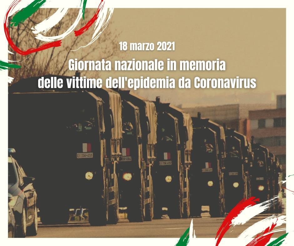 18 marzo Giornata nazionale in memoria delle vittime dell'epidemia di Coronavirus