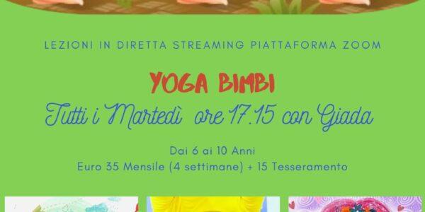 Yoga bimbi 6 - 10 anni online