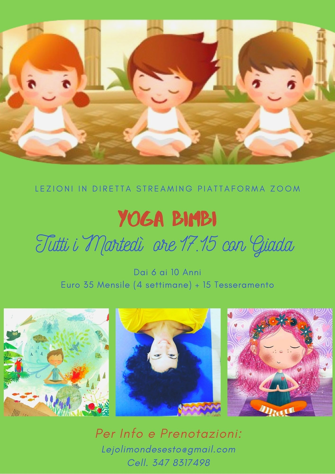 Yoga bimbi 6 – 10 anni online