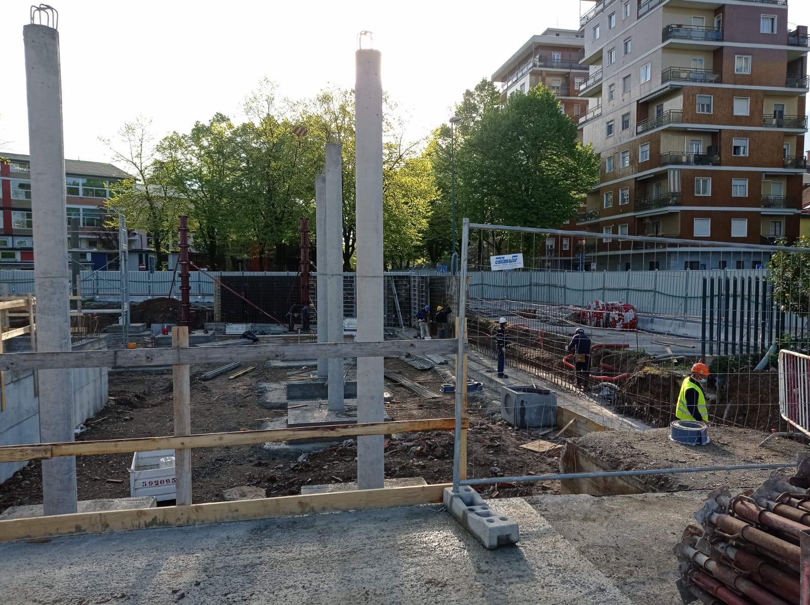 Avanzamento lavori Carmen Longo aprile 2021