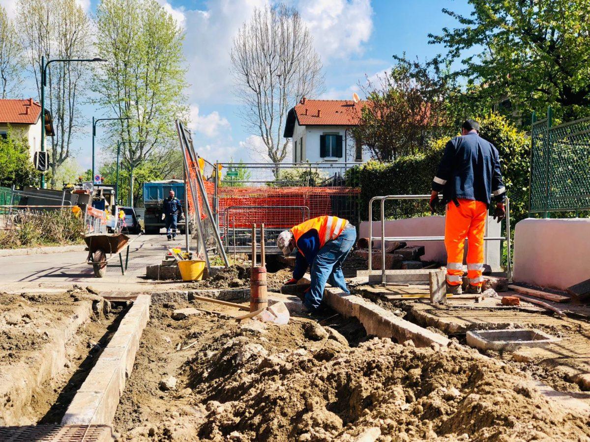 Lavori al villaggio Falck - aprile 2021