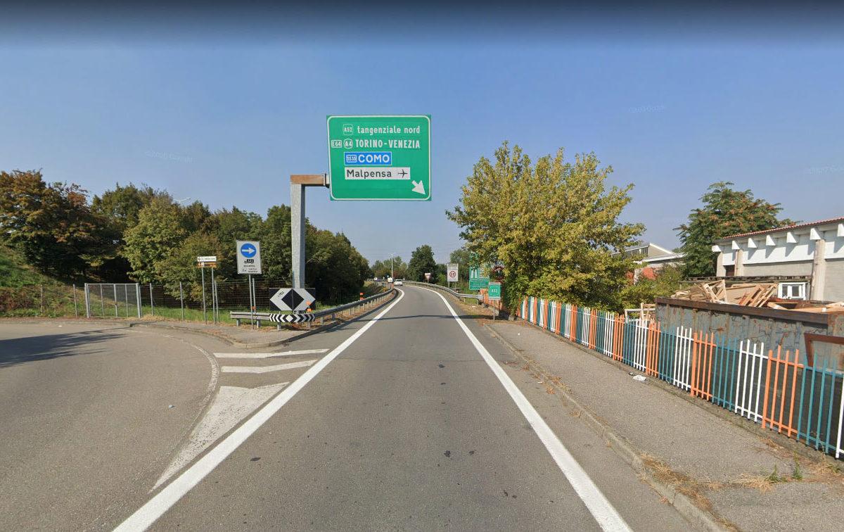 Lavori allo svincolo della Tangenziale Nord di via di Vittorio