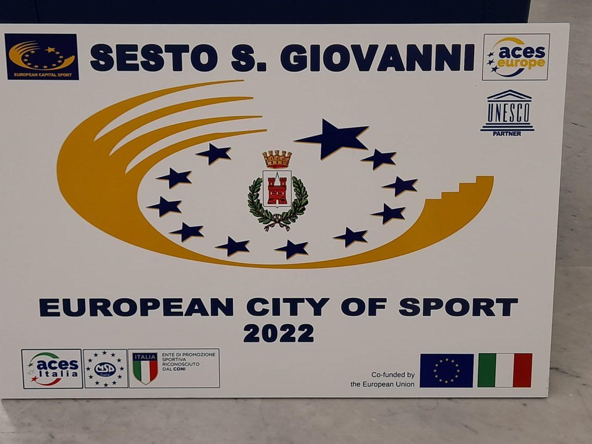 Sesto San Giovanni riceve la targa di Città Europea dello Sport 2022 al Coni di Roma