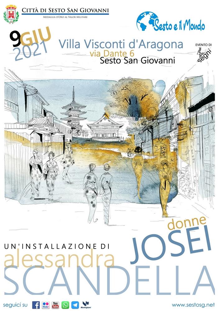 JOSEI /DONNE installazione di Alessandra Scandella