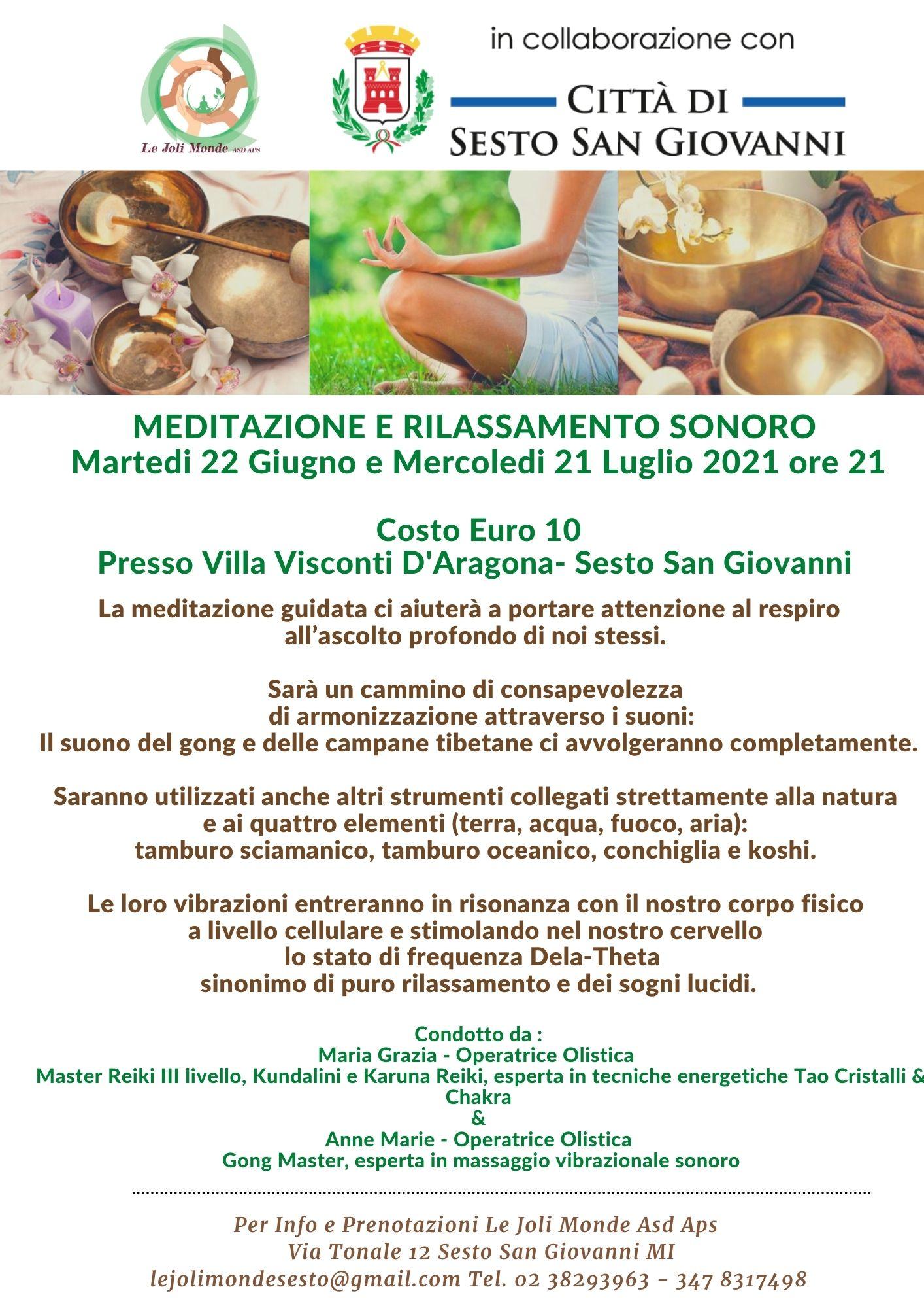 Meditazione e rilassamento sonoro