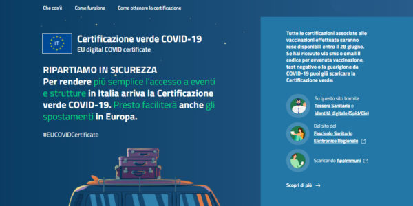 Green pass - Certificazione verde Covid 19