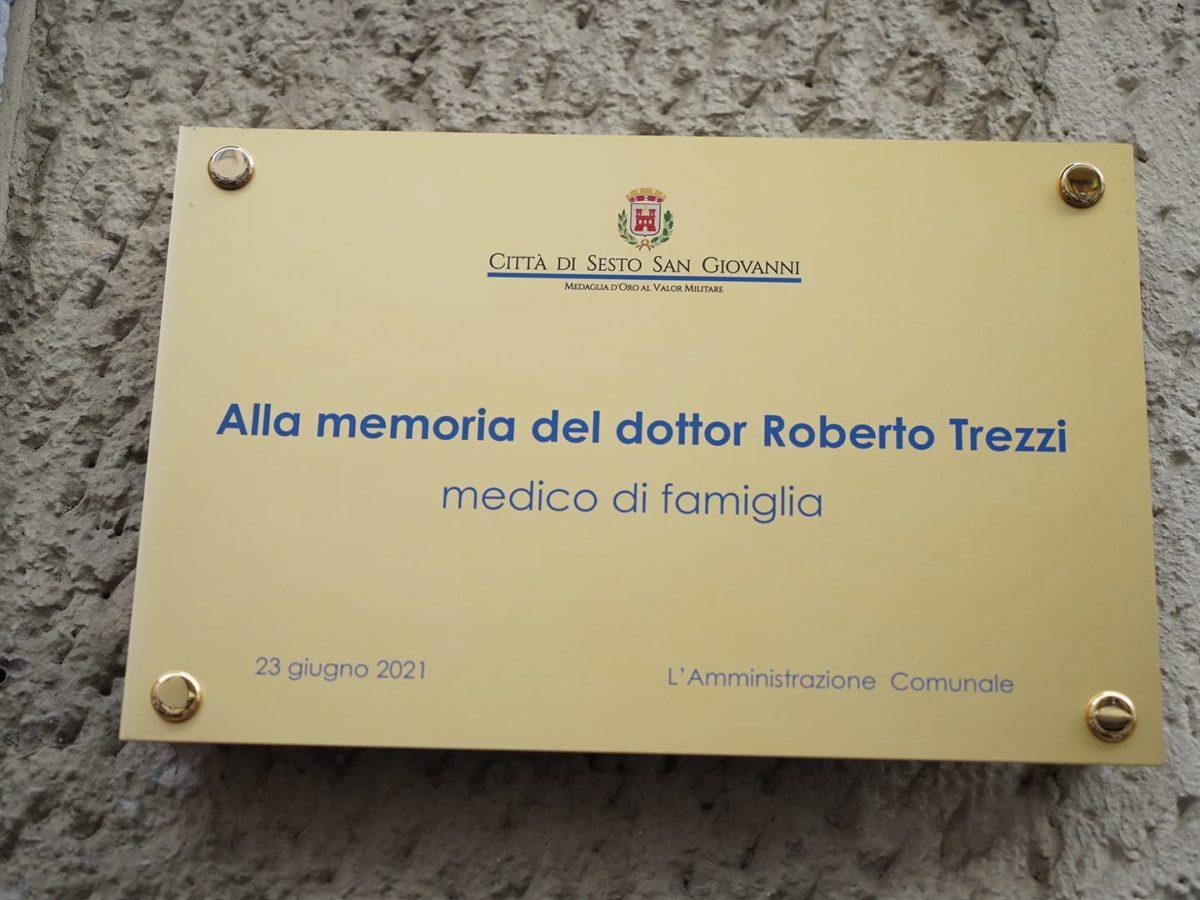 Scoperta la targa in memoria del dottor Roberto Trezzi nel quartiere Vittoria