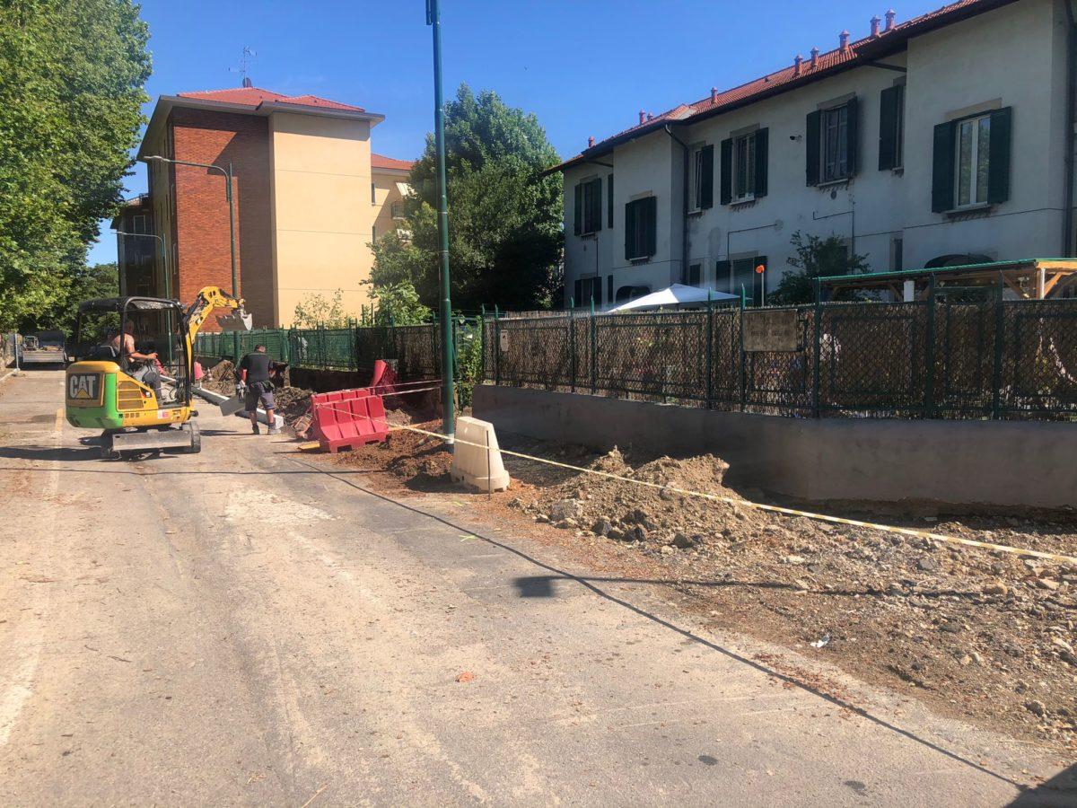 Villaggio Falck, procede la riqualificazione del quartiere: in corso lavori in via Lorenzi