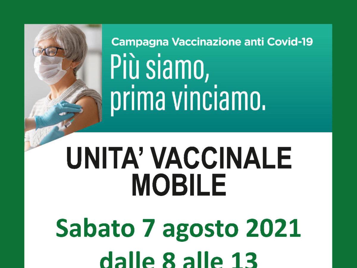 Sabato 7 agosto unità mobile vaccinale in via Marx