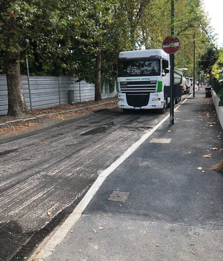 asfaltature Villaggio Falck - agosto 2021