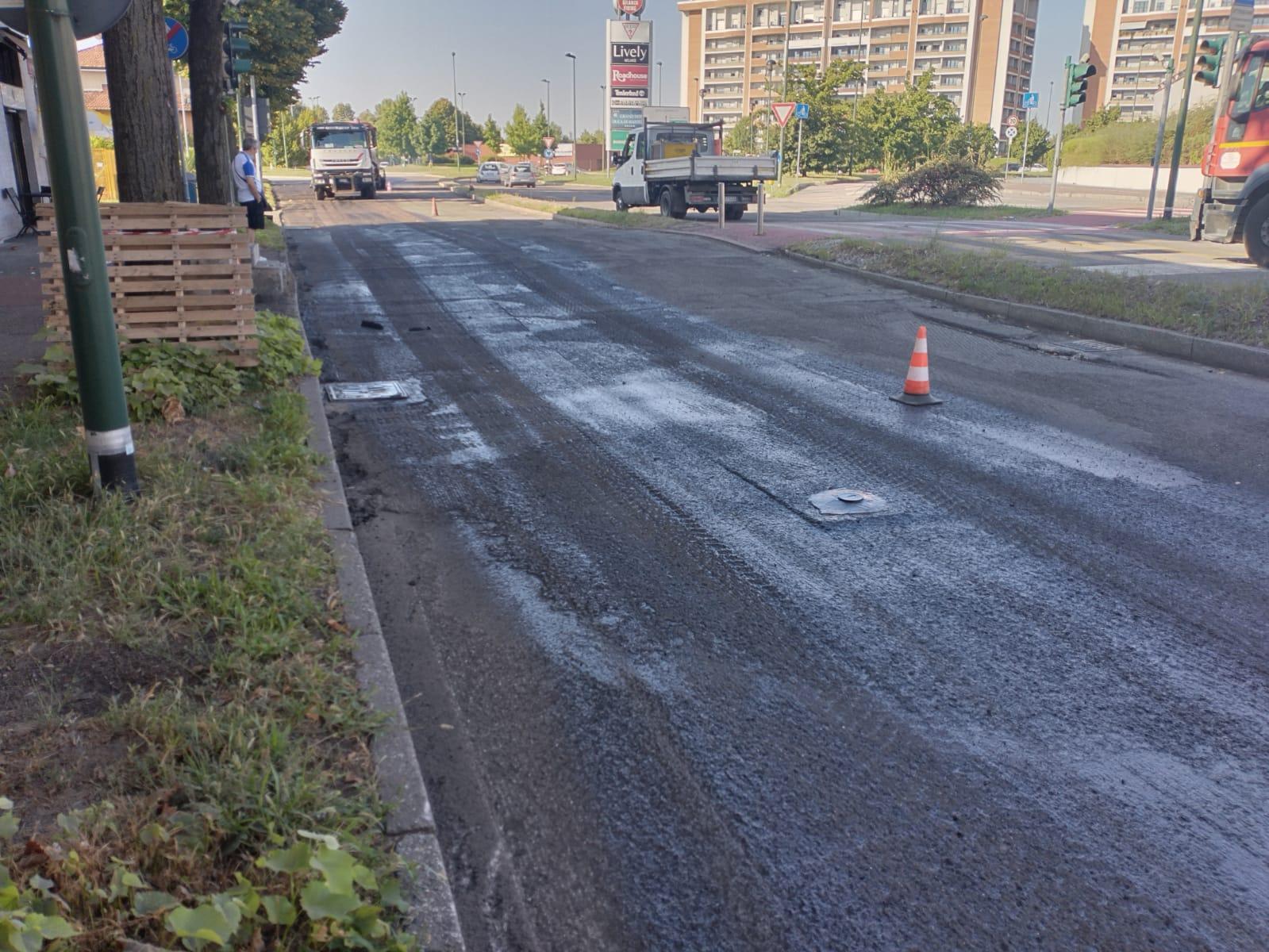 asfaltatura viale Italia agosto 2021