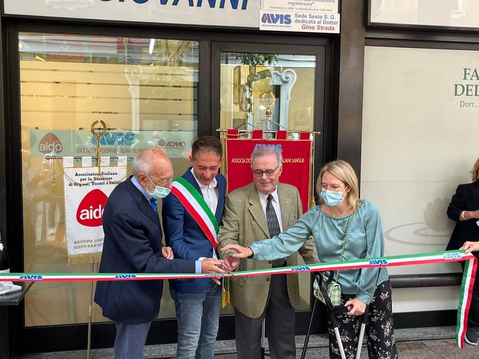 Inaugurata nuova sede Avis Sesto San Giovanni in immobile sequestrato alla mafia