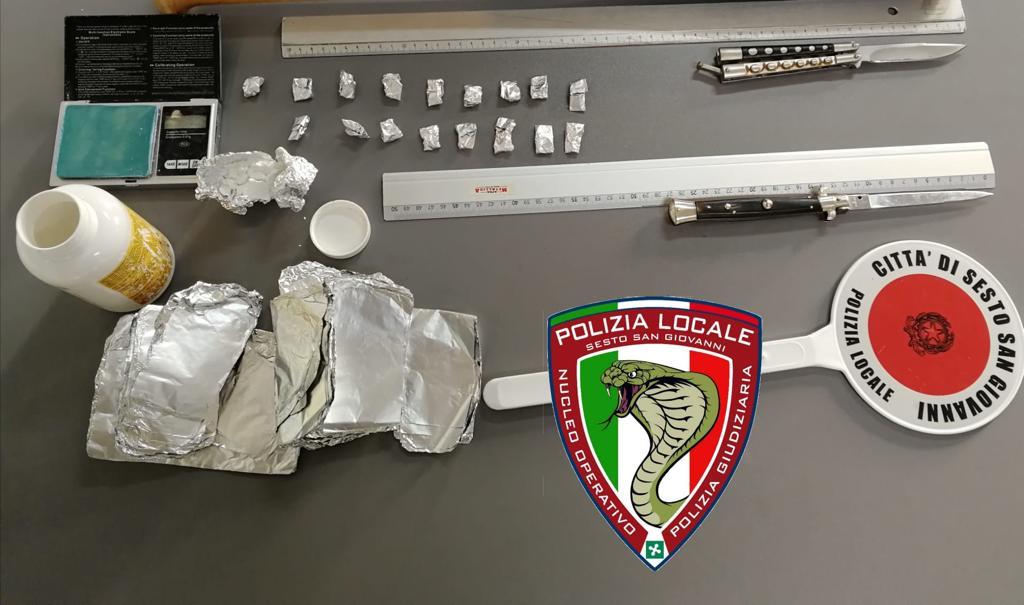 Polizia Locale, lotta dura allo spaccio: arrestato pusher di cocaina