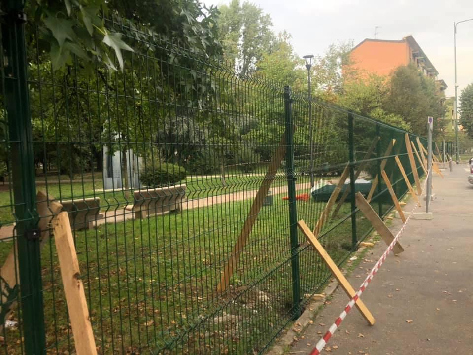 Spazio Arte-Sandro Pertini, in corso lavori per recintare tutto il perimetro del parco