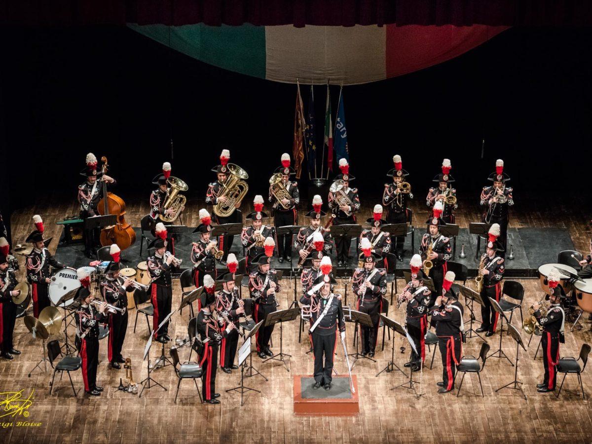 La fanfara dei Carabinieri in concerto